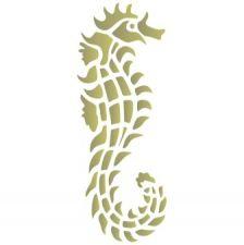 Трафарет морской конек 3 морской конек