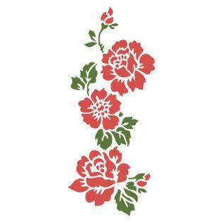 Трафарет Орнамент из роз вертикальный