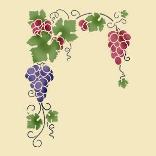 Трафарет своими руками виноградная лоза