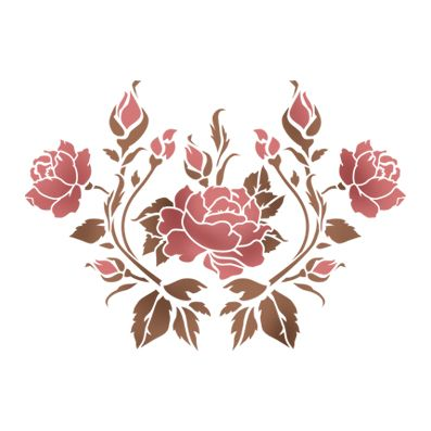 Трафарет Цветочная виньетка 8